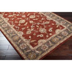 Hand-tufted Kensington Red Wool Rug (2' x 3')