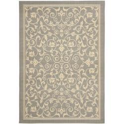 Safavieh Grey/ Natural Indoor Outdoor Rug (2'7 x 5')
