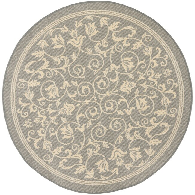 Safavieh Grey Natural Indoor Outdoor Rug 5 3 Round