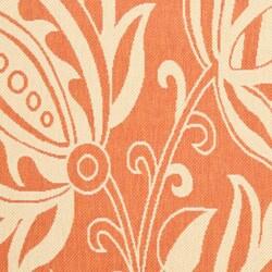 Safavieh Terracotta/ Natural Indoor Outdoor Rug (5'3 x 7'7)