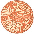 Safavieh Terracotta/ Natural Indoor Outdoor Rug (5'3 Round)