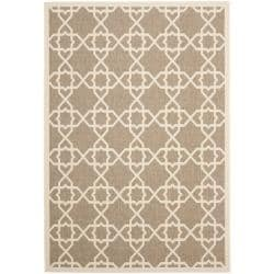 Safavieh Brown/ Beige Indoor Outdoor Rug (5'3 x 7'7)