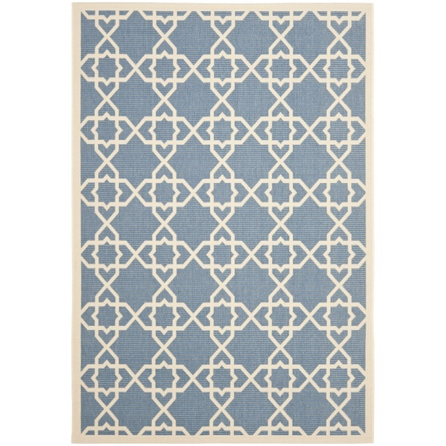 """Safavieh Blue/Beige Indoor/Outdoor Area Rug (8' x 11'2"""")"""