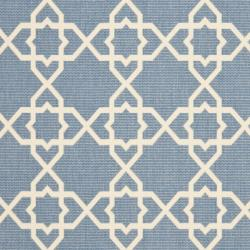 "Safavieh Blue/Beige Indoor/Outdoor Area Rug (8' x 11'2"")"