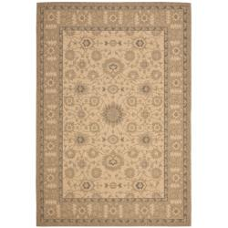 Natural/ Gold Indoor Outdoor Rug (6'7 x 9'6)