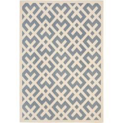 Safavieh Blue/ Bone Indoor Outdoor Rug (4' x 5'7)