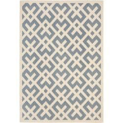 Safavieh Blue/ Bone Indoor Outdoor Rug (9' x 12')