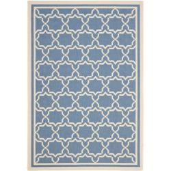 Blue/ Beige Geometric Indoor/ Outdoor Rug (9' x 12')
