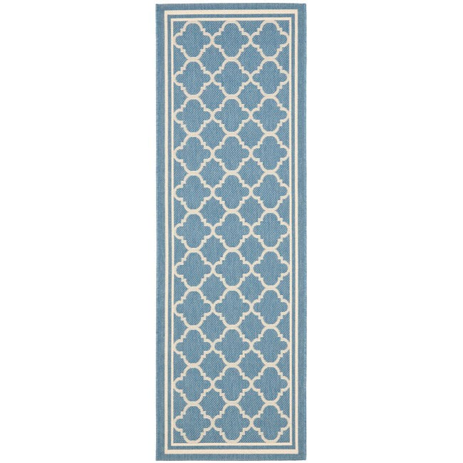 Safavieh Blue Beige Square Geometric Pattern Indoor