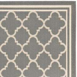 Dark Grey/ Beige Indoor Outdoor Rug (8' x 11'2)