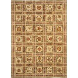 Handmade Hampton Beige Wool Rug (7'6 x 9'6)