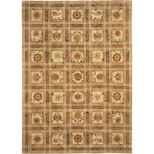 Safavieh Handmade Hampton Beige Gold Wool Rug (8' x 11')