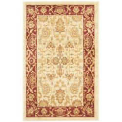 Oushak Cream/ Red Powerloomed Rug (2'6 x 4')