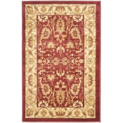 Oushak Red/ Cream Powerloomed Rug (2'6 x 4')