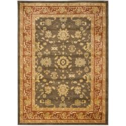 Safavieh Oushak Brown/ Red Powerloomed Rug (4' x 5'7)