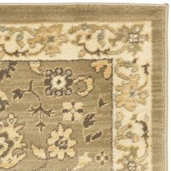 Oushak Green/Cream Oriental-Pattern Powerloomed Rug (2'6