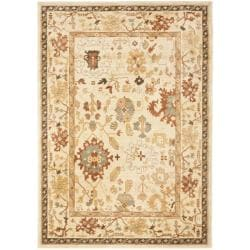 Oushak Cream/ Cream Powerloomed Rug (9'6 x 13')