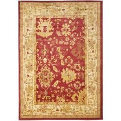 Oushak Red/ Cream Powerloomed Traditional Rug (4' x 5'7)