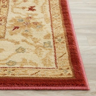 Safavieh Oushak Red/ Cream Powerloomed Traditional Rug (4' x 5'7)