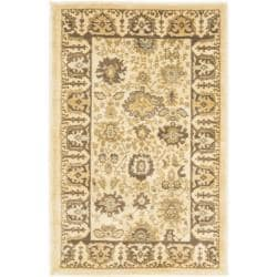 Oushak Cream/ Brown Powerloomed Rug (2'6 x 4')