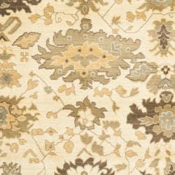 Safavieh Oushak Cream/ Brown Powerloomed Rug (8' x 11')
