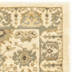 Safavieh Oushak Cream/ Blue Powerloomed Rug (2'6 x 4')