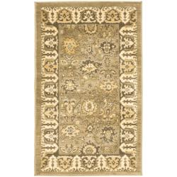 Oushak Green/ Brown Powerloomed Rug (2'6 x 4')