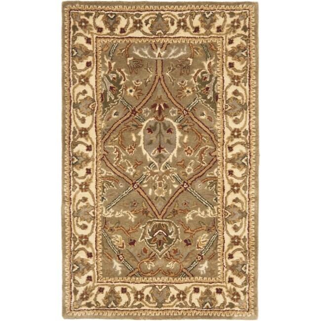 Safavieh Handmade Mahal Green/ Beige New Zealand Wool Rug (2'6 x 4')