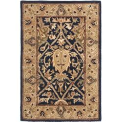 Safavieh Handmade Mahal Blue/ Gold New Zealand Wool Rug (2' x 3')