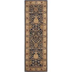 Safavieh Handmade Mahal Blue/ Gold New Zealand Wool Rug (2'6 x 8')