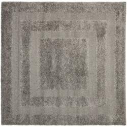 Ultimate Dark Grey Shag Rug (6' 7 Square)