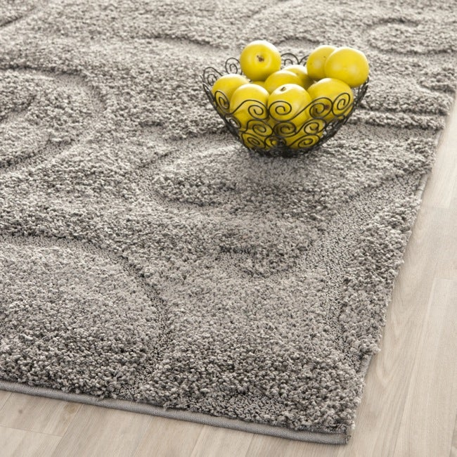 Safavieh Florida Ultimate Shag Dark Grey/ Beige Rug (3'3 x 5'3)