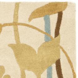 Safavieh Handmade New Zealand Wool Gardens Beige Rug (2' x 3')