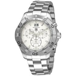 Tag Heuer Men's CAF101F.BA0821 'Aquaracer Quartz Chronograph' Silver Dial Watch