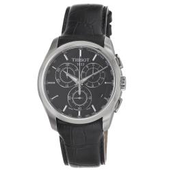 Tissot Men's T0356171605100 'Couturier' Black Chronograph Dial Black Strap Watch
