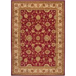Woven Red Rug (5'3 x 7'3)