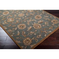 Hand-tufted Kensington Blue Wool Rug (2' x 3')