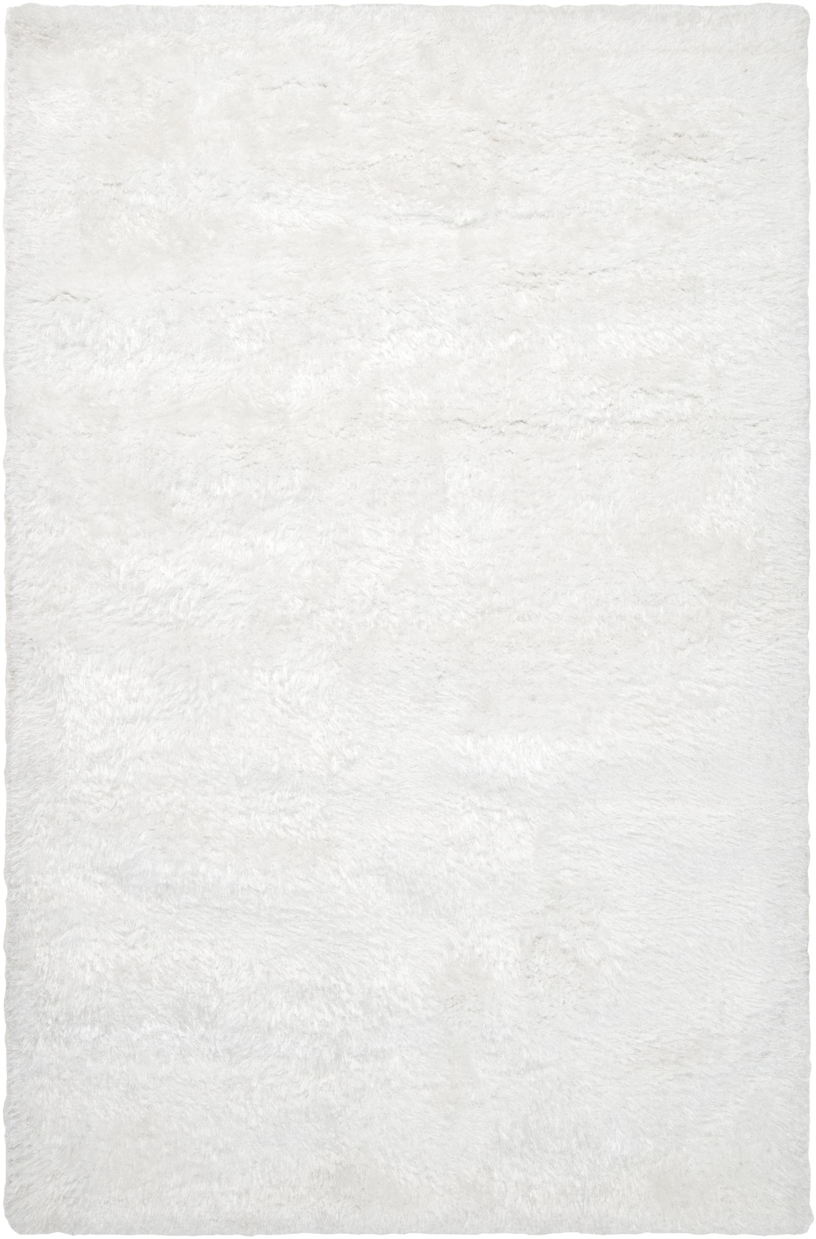 Hand-woven Grants White Super Soft Shag Rug (5' x 8')
