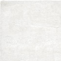 Hand-woven Grants White Super Soft Shag Rug (5' x 8')