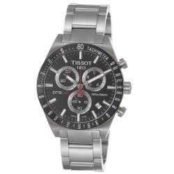Tissot Men's 'PRS 516' Black Chronograph Dial Stainless Steel Watch