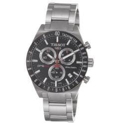 Tissot Men's T044.417.21.051.00 'PRS 516' Black Chronograph Dial Stainless Steel Watch