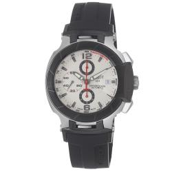Tissot Men's T0484272703700 T-Race Round Black Rubber Strap Watch