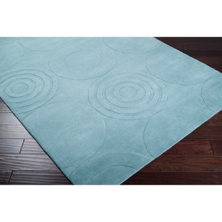 Hand-crafted Solid Colored Casual Clay Wool Rug (2' x 3')