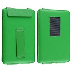 INSTEN Green Leather Phone Case Cover with Stand for Barnes & Noble Nook Color