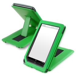 Green Leather Case with Stand for Barnes & Noble Nook Color