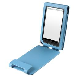 Blue Leather Case with Stand for Barnes & Noble Nook Color