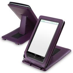 Purple Leather Case with Stand for Barnes & Noble Nook Color