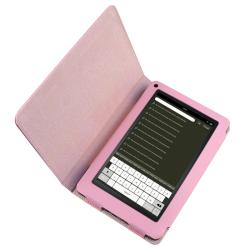 Pink Leather Case with Stand for Amazon Kindle Fire