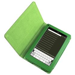 Green Leather Case with Stand for Amazon Kindle Fire