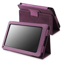 Purple Leather Case with Stand for Amazon Kindle Fire